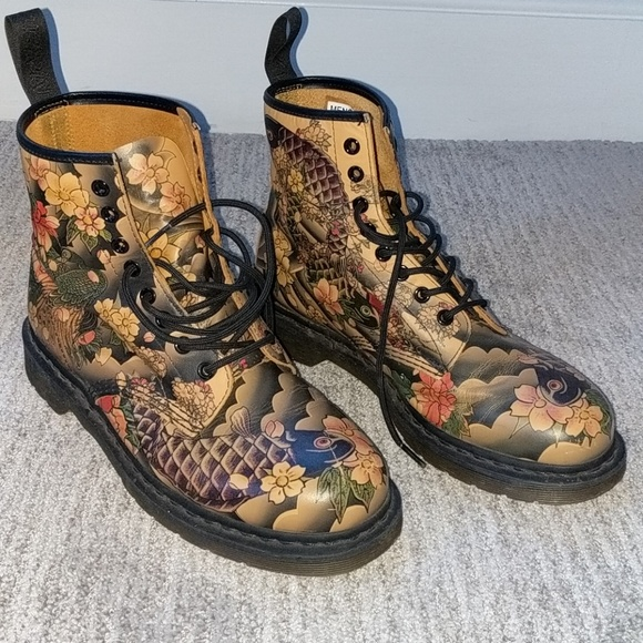 Very Rare Dr Martens 1460 Tattoo Koi Fish